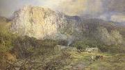 Henry Clarence Whaite,RWS Castle Rock,Cumberland (mk46) oil on canvas