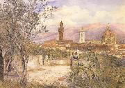 Henry Roderick Newman View of Florence,From the Gardens fo the Palazzo de'Mozzi (mk46) oil