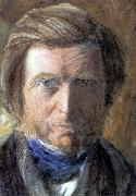 John Ruskin Self-Portrait in a Blue Neckcloth oil