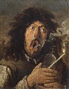 Joos van craesbeck The Smoker oil on canvas