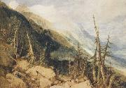 Joseph Mallord William Truner Montanvert,Valley of Chamouni (mk47) oil on canvas