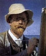 Peder Severin Kroyer Self-Portrait oil painting reproduction