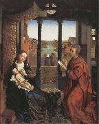 Roger Van Der Weyden Saint Luke Drawing the Virgin and Child oil