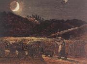 Samuel Palmer Cornfield by Moonlight oil painting reproduction