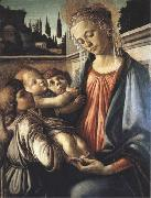 Sandro Botticelli Madonna and Child with two Angels oil painting reproduction