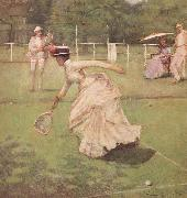Sir John Lavery,RA A Rally (mk46) oil