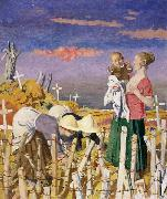 Sir William Orpen Harvest painting