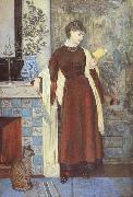 Walter Crane,RWS At Home:A Portrait (mk46) oil on canvas