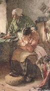 Walter Langley,RI But Men must work and Women must weep (mk46) oil