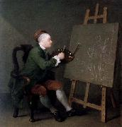 William Hogarth Hogarth Painting the Comic Muse painting