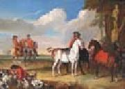 unknow artist Horses and Hunter painting