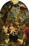 Adam Elsheimer Holy Family with St John the Baptist, painting