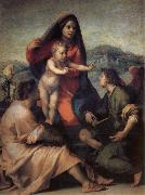 Andrea del Sarto Holy Family with Angels painting