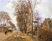 Camille Pissarro Rural road oil painting reproduction