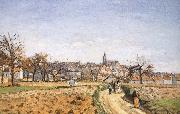 Camille Pissarro Pang plans Schwarz oil painting reproduction