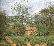 Camille Pissarro Hut villages painting