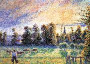 Camille Pissarro Sunset oil painting reproduction
