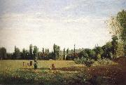 Camille Pissarro Outlook fields painting