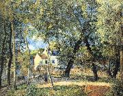 Camille Pissarro Hurrying to the landscape painting