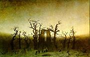 Caspar David Friedrich The Abbey in the Oakwood china oil painting artist