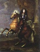 Charles Lebrun equestrian portrait of louis xlv oil on canvas