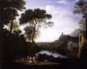 Claude Lorrain lenbskap med nymfen egeria oil painting reproduction