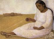 Diego Rivera indian spinning oil painting reproduction