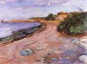 Edvard Munch Landscape oil painting reproduction