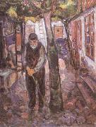 Edvard Munch Old man painting