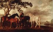 George Stubbs ston och fol i flodlandskap china oil painting reproduction