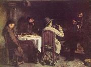 Gustave Courbet After Dinner at Ornans oil painting reproduction