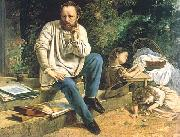 Gustave Courbet Proudhon and his children china oil painting reproduction
