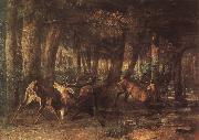 Gustave Courbet The War between deer china oil painting reproduction