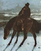 Gustave Courbet Hunter on the horse back painting
