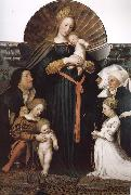 Hans Holbein Our Lady Meyer painting