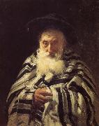 Ilia Efimovich Repin Great Jewish prayer oil painting