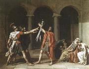 Jacques-Louis  David oath of the horatii oil on canvas
