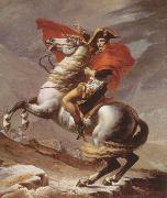 Jacques-Louis  David napoleon crossing the alps oil on canvas