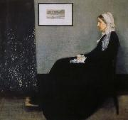 James Abbott Mcneill Whistler arrangemang i gratt och svart nr 1 konstnarens moder oil on canvas