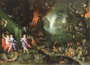 Jan Brueghel The Elder orpheus in the underworld painting