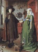 Jan Van Eyck Portrait of Giovanni Arnolfini and His Wife oil painting reproduction
