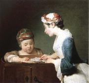 Jean Baptiste Simeon Chardin the young schoolmistress oil painting reproduction