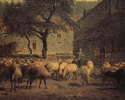 Jean Francois Millet Sheep china oil painting reproduction