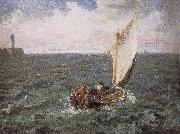 Jean Francois Millet Sailboat oil painting reproduction