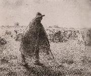 Jean Francois Millet Shepherden in the field oil painting reproduction