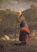 Jean Francois Millet Shepherdess oil painting reproduction