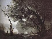 Jean-Baptiste Corot Mott memories Fontainebleau oil on canvas