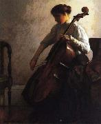 Joseph Decamp The Cellist china oil painting artist