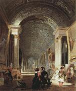 Patrick Henry Bruce view of the grande galerie of the louvre oil on canvas