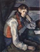 Paul Cezanne the boy in the red waistcoat china oil painting artist